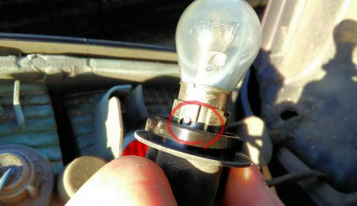 ダイハツ ミラジーノ ブレーキランプを交換しました。